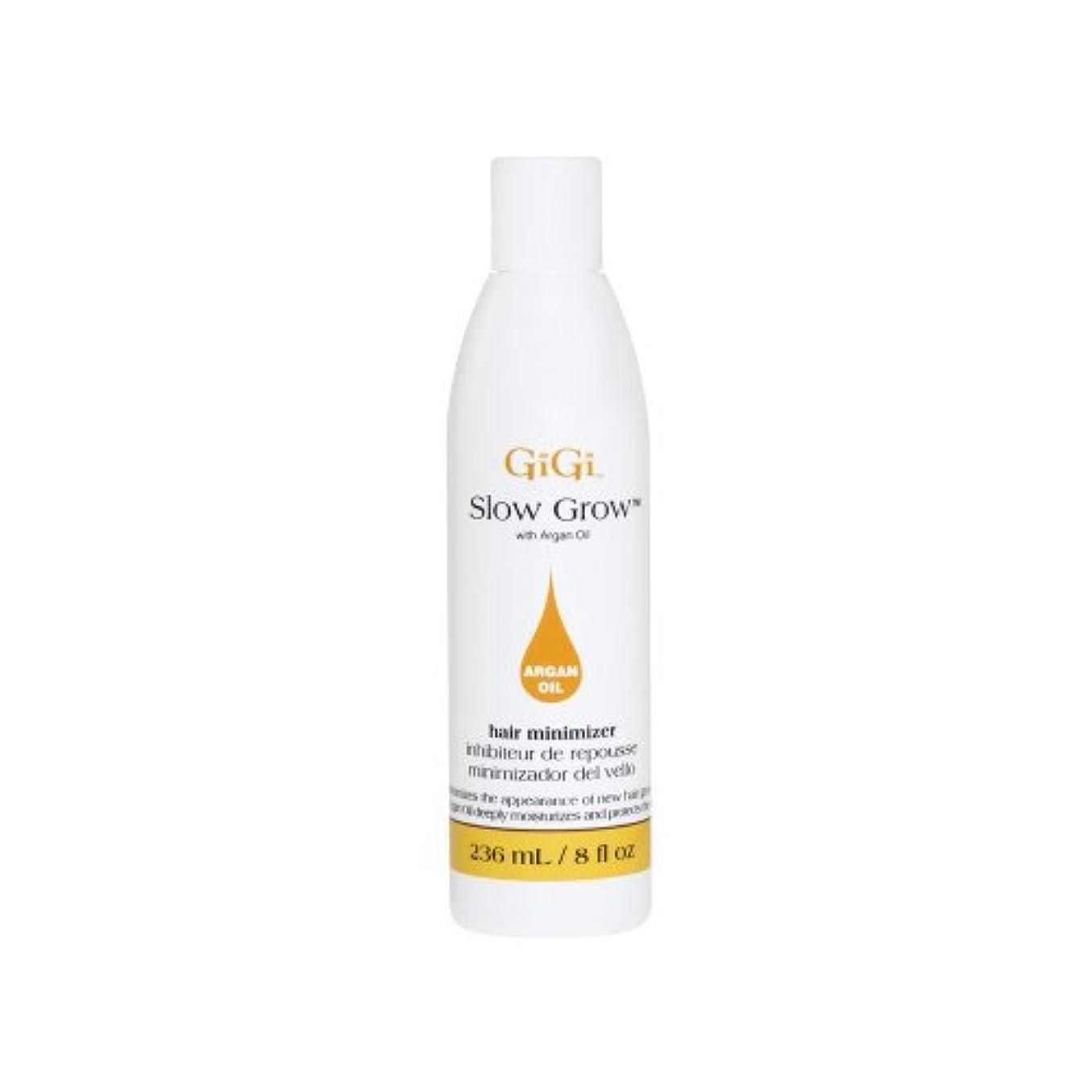 トリッキー宣教師同盟GiGi Slow Grow スローグロウ (ムダ毛を薄く)- hair minimizer with Argan Oil  (236ml) (海外直送品)
