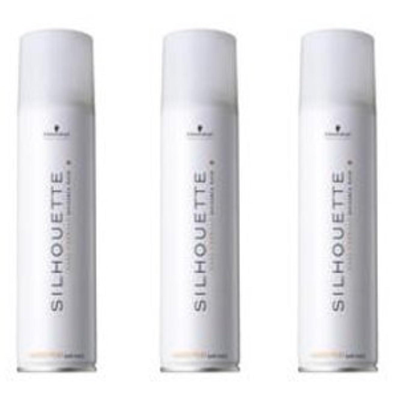 隔離する静かなビン【x3個セット】 シュワルツコフ シルエット/SILHOUETTE ソフトスプレー 295ml