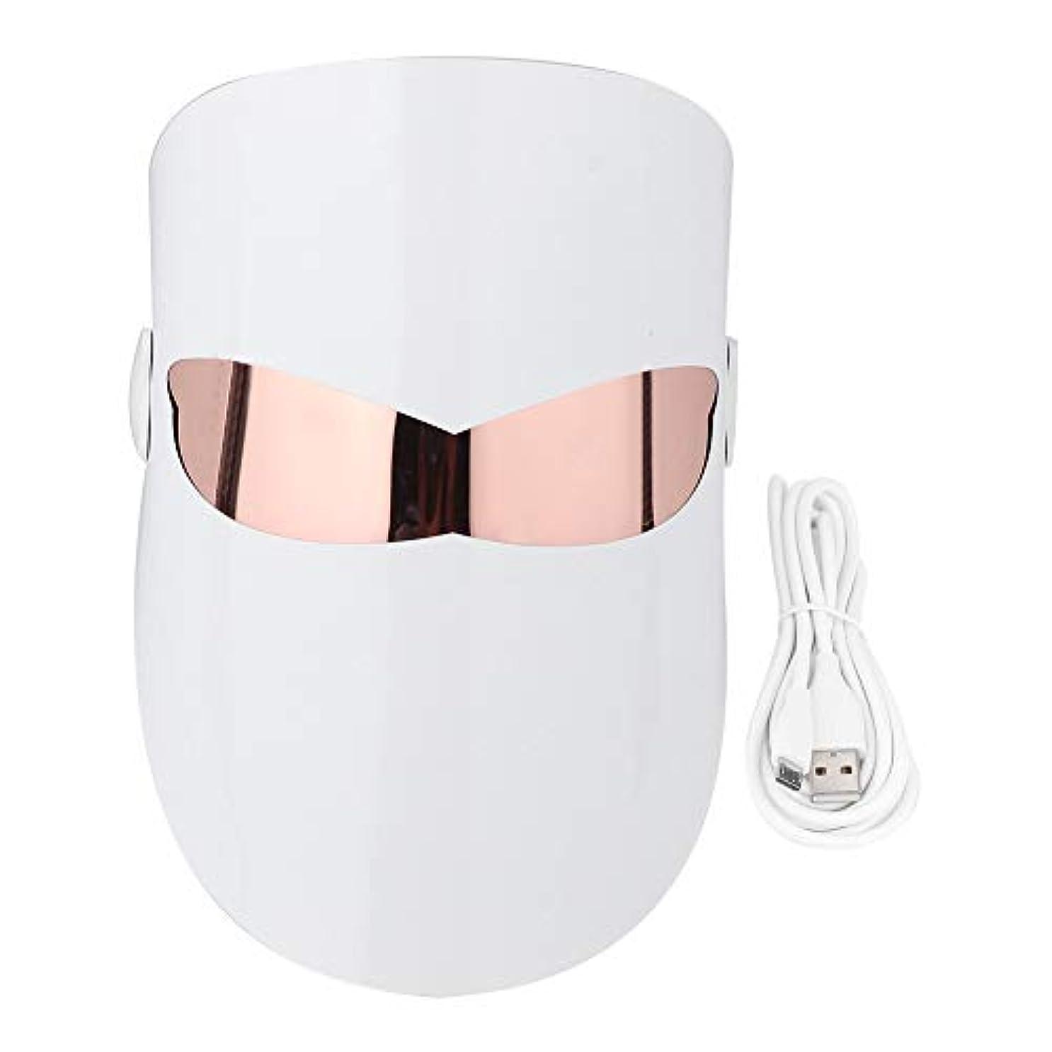 スピーチ尽きる献身Photon 32 LEDライトフェイスマスクホワイトニングリジュビネーションマッサージ栄養コラーゲン回復にきび除去スパ美容機器フェイス&ネックスキンケアマスク
