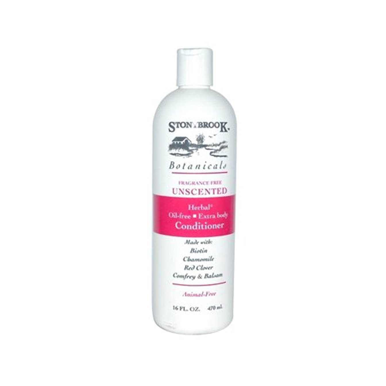 母壊滅的な周辺Stoney Brook Botanicals Conditioner, Unscented, 475 ml (並行輸入品)