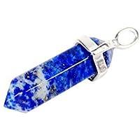 1つのPcsペンダントのjennysun2010自然なラピスラズリ宝石用原石癒し六角形示し霊気チャクラペンダント魅力ビーズパック
