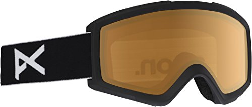Anon(アノン) スノーボード スキー ゴーグル ジュニア キッズ TRACKER Black/Amber 185261 アジアンフィット 平面レンズ