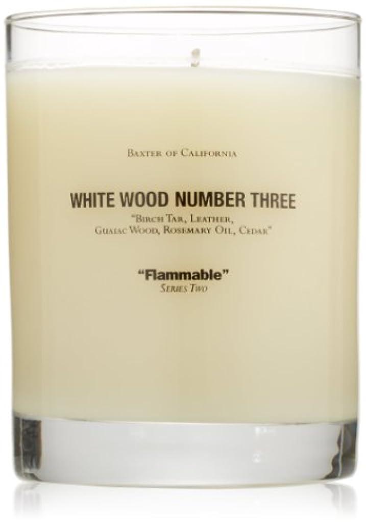 模倣トリムパネルBaxter OF CALIFORNIA(バクスター オブ カリフォルニア) ホワイトウッドキャンドルthree 255g