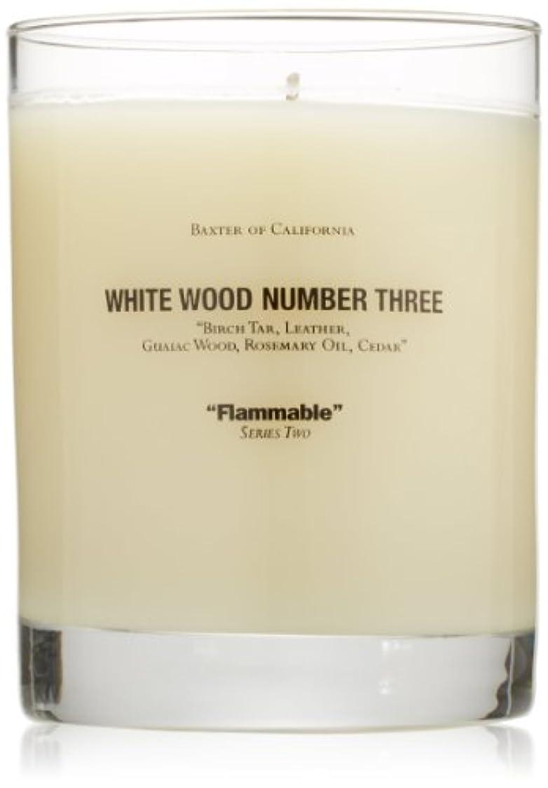 イサカ祖母敏感なBaxter OF CALIFORNIA(バクスター オブ カリフォルニア) ホワイトウッドキャンドルthree 255g