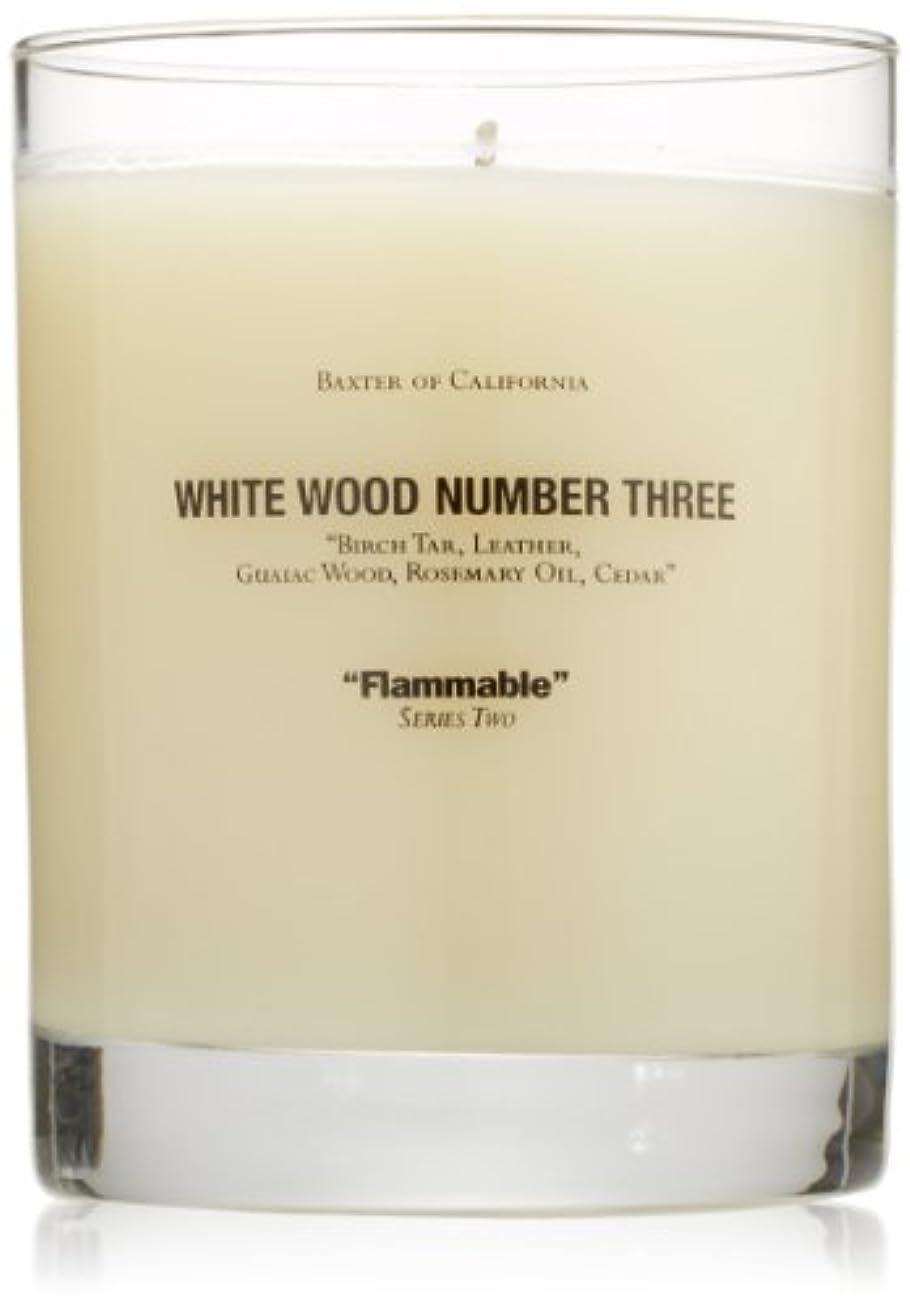 伝染性広告全能Baxter OF CALIFORNIA(バクスター オブ カリフォルニア) ホワイトウッドキャンドルthree 255g