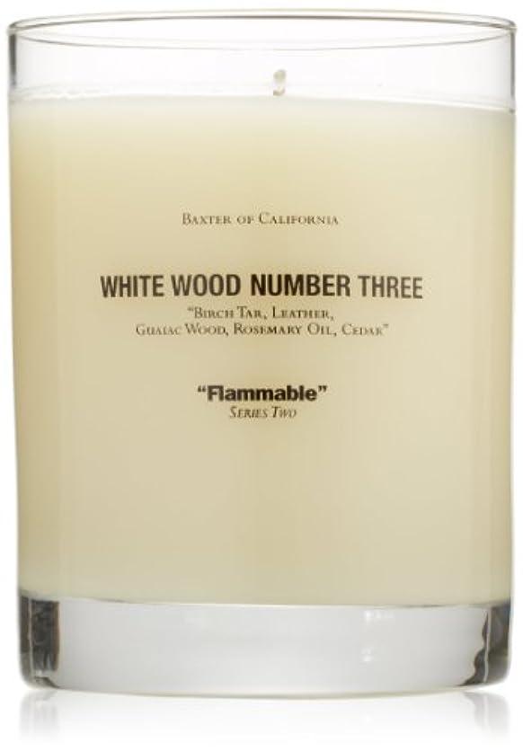 メモ準備した手Baxter OF CALIFORNIA(バクスター オブ カリフォルニア) ホワイトウッドキャンドルthree 255g