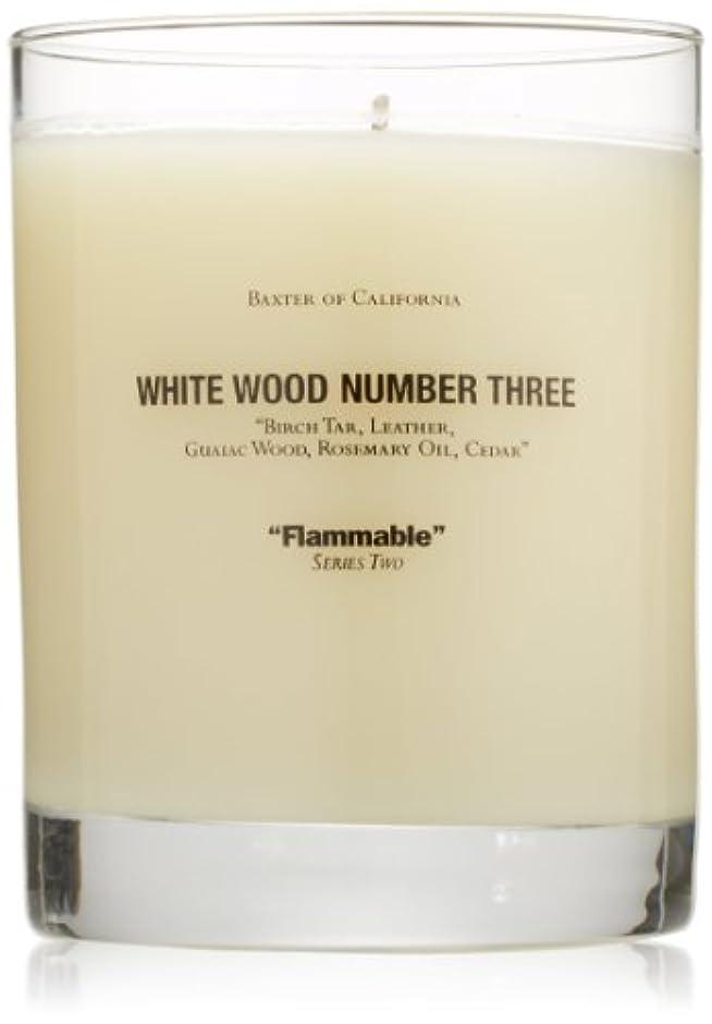 施設スプレー良さBaxter OF CALIFORNIA(バクスター オブ カリフォルニア) ホワイトウッドキャンドルthree 255g