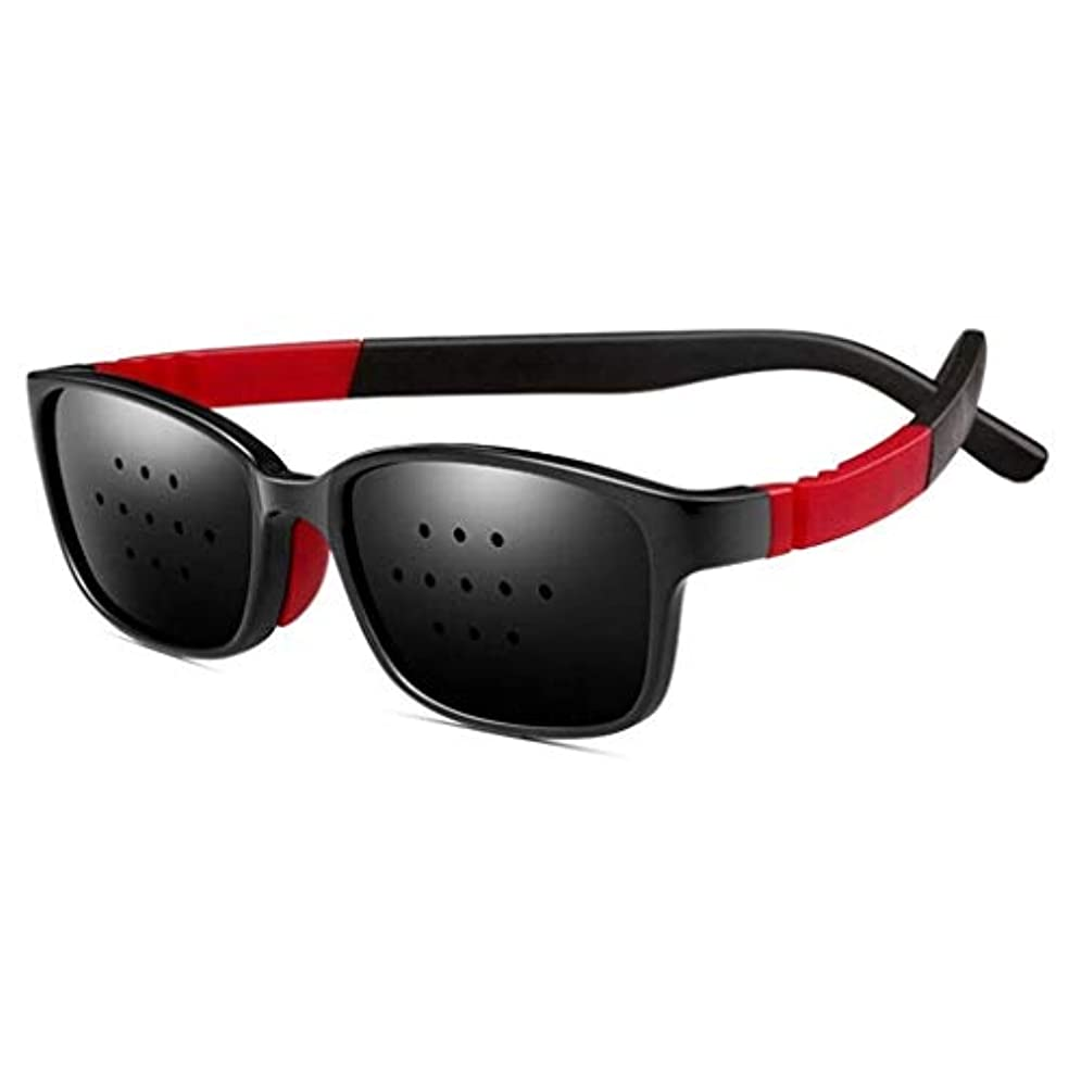 致命的な実行する余分なユニセックス視力ビジョンケアビジョンピンホールメガネアイズエクササイズファッションナチュラル (Color : 黒)