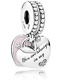 [パンドラ] PANDORA Mother & Daughter Hearts ペンダントチャーム (シルバー キュービックジルコニア) 正規輸入品 792072EN40