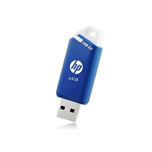 HP ヒューレット・パッカード 高速USBメモリ スライド式キャップレスデザイン クラシックブルー (64GB, x755w - USB 3.0 / 耐衝撃 防塵)