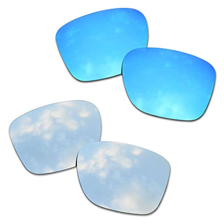 それる蓋だらしないSOODASE 為に Oakley Crossrange サングラス ブルー/ぎんいろ 2 ペア 偏光交換使用するレンズ