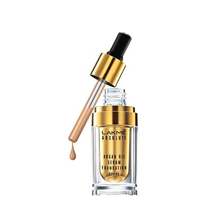 フォルダ忠実ゴージャスLakme Absolute Argan Oil Serum Foundation with SPF 45, Ivory Cream, 15ml