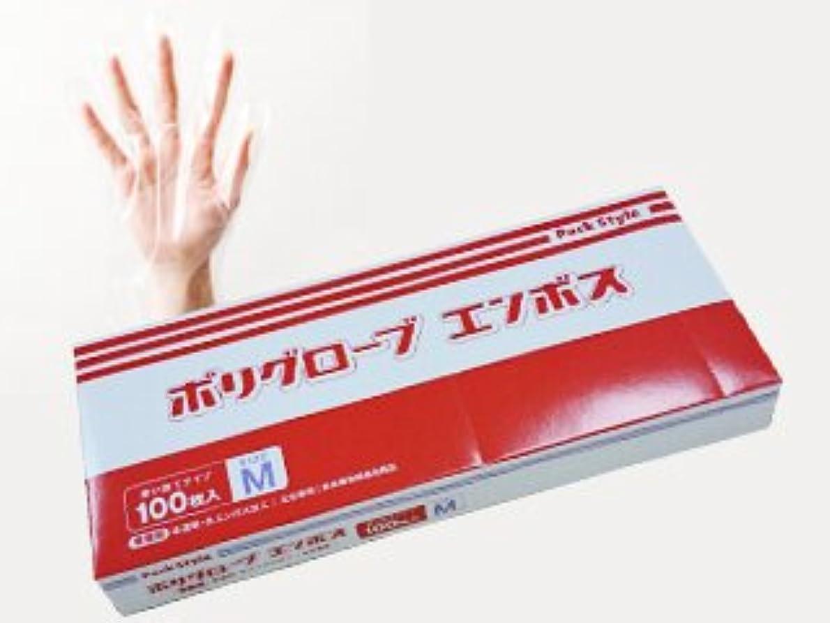 ペイント上へ本気パックスタイル 使い捨て ポリ手袋 半透明 箱入 M 100枚 437322