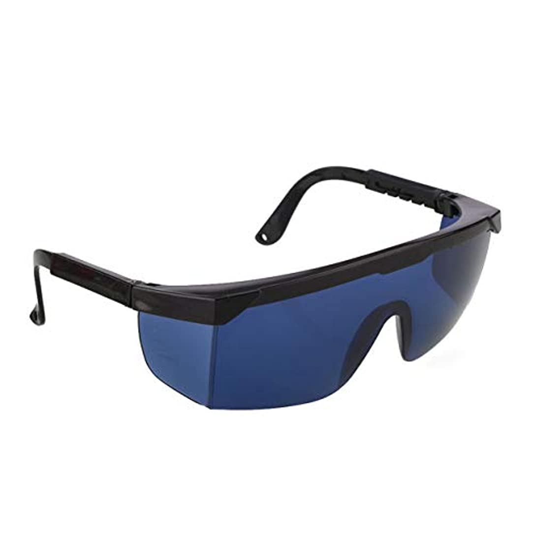セットアップすべき流行Saikogoods 除毛クリーム ポイント脱毛保護メガネユニバーサルゴーグル眼鏡を凍結IPL/E-光OPTのためのレーザー保護メガネ 青