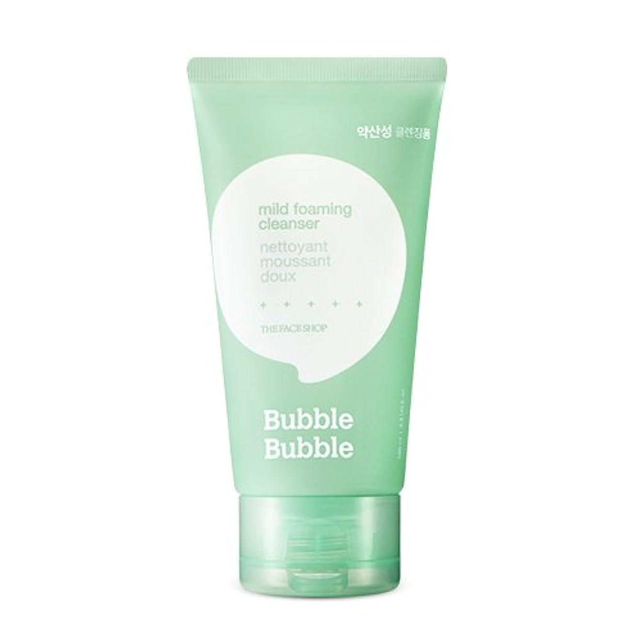 障害者米国金属THE FACE SHOP Bubble Bubble Foaming Cleanser 100ml/ザフェイスショップ バブル バブル フォーミング クレンザー 100ml (#Mild(弱酸性)) [並行輸入品]