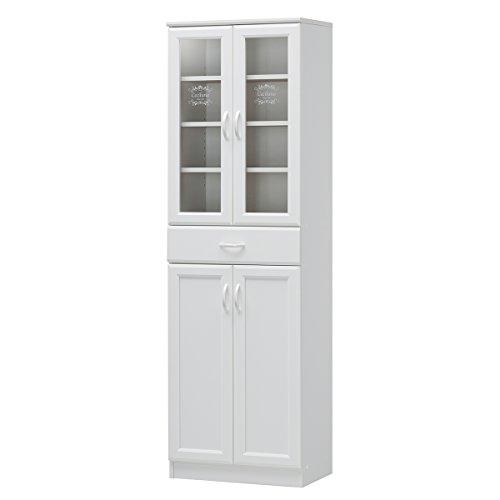 RoomClip商品情報 - 白井産業【SHIRAI】食器棚 キッチン収納 カップボード セシルナ ホワイト 白 幅約57cm 高さ約180cm 【2梱包】 CEC-1855DGHF CEC-1855DGHF
