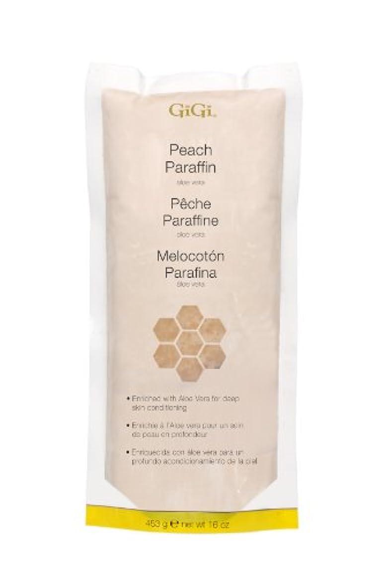 炭水化物シーケンスタンパク質GiGi Peach Paraffin Wax 453g by Gigi