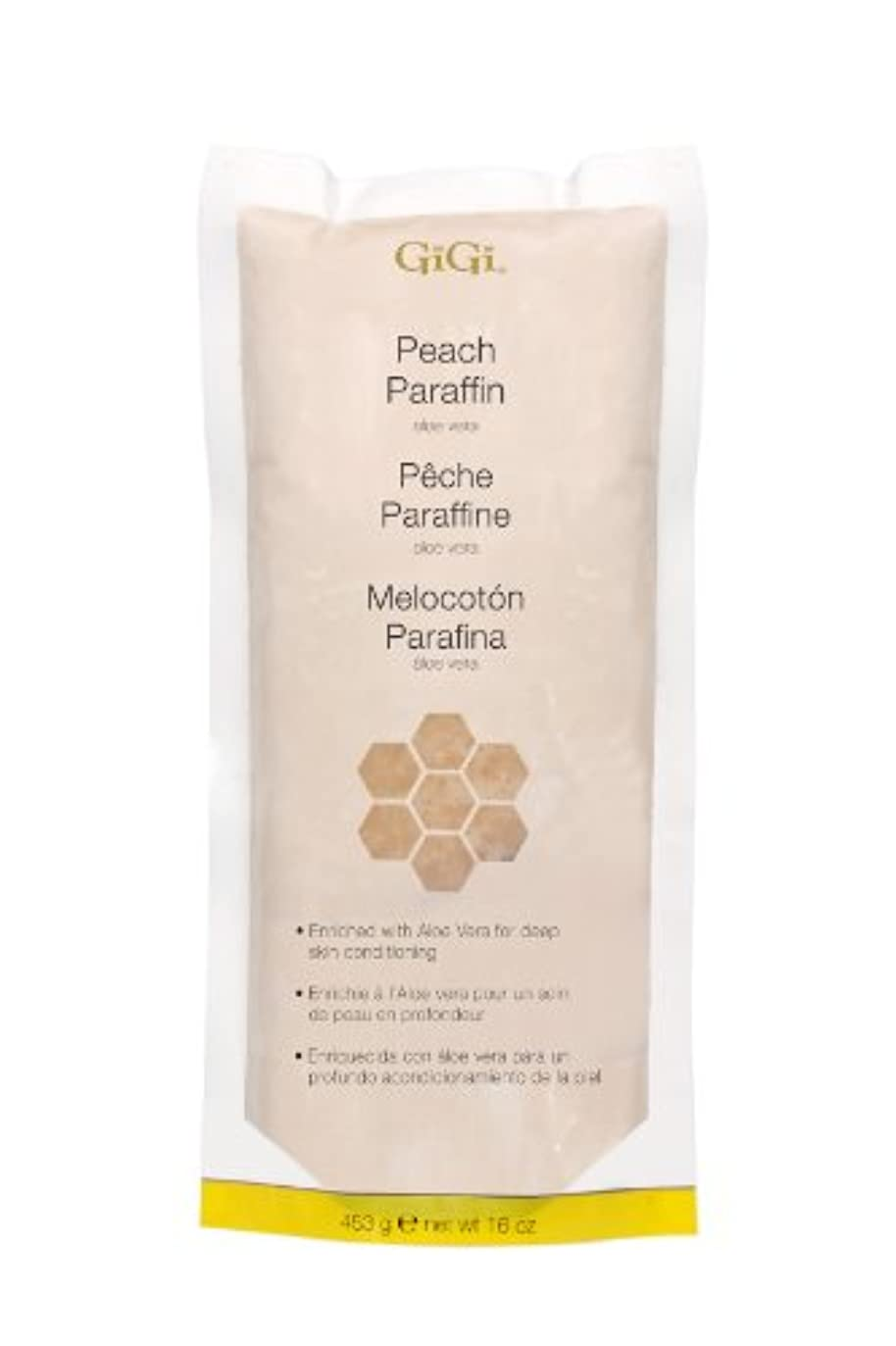 ダメージモーションスリラーGiGi Peach Paraffin Wax 453g by Gigi