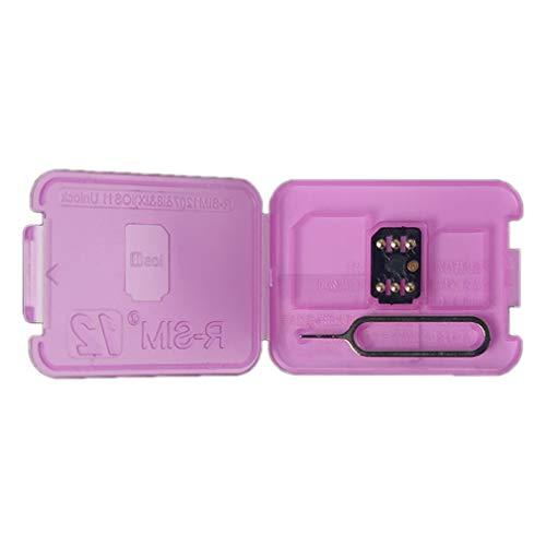 sdxcカード RSIM 12アンロックカードiOS11のためのiPhone X / 8/7/6 / 6Sのためのユニバーサル4G自動ロック解除カードプラグアンドプレイSIMカードホルダーブラック