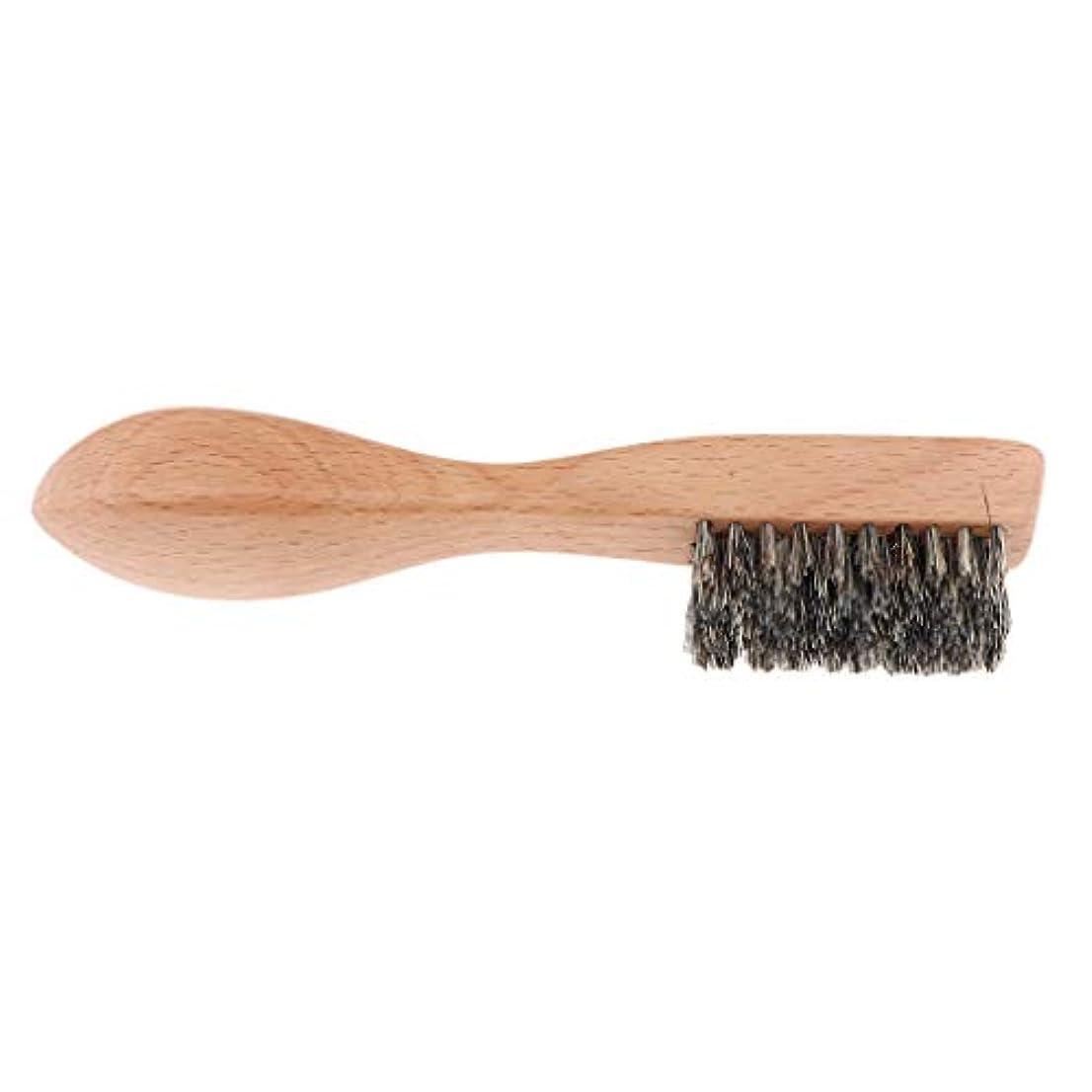 dailymall 男性ひげブラシポータブルグルーミングシェービングブラシ毛Hair&Woodハンドル