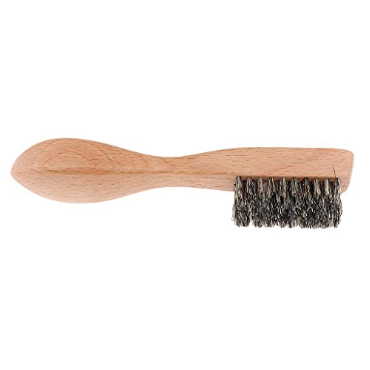 拍手するヒープもっと少なくdailymall 男性ひげブラシポータブルグルーミングシェービングブラシ毛Hair&Woodハンドル