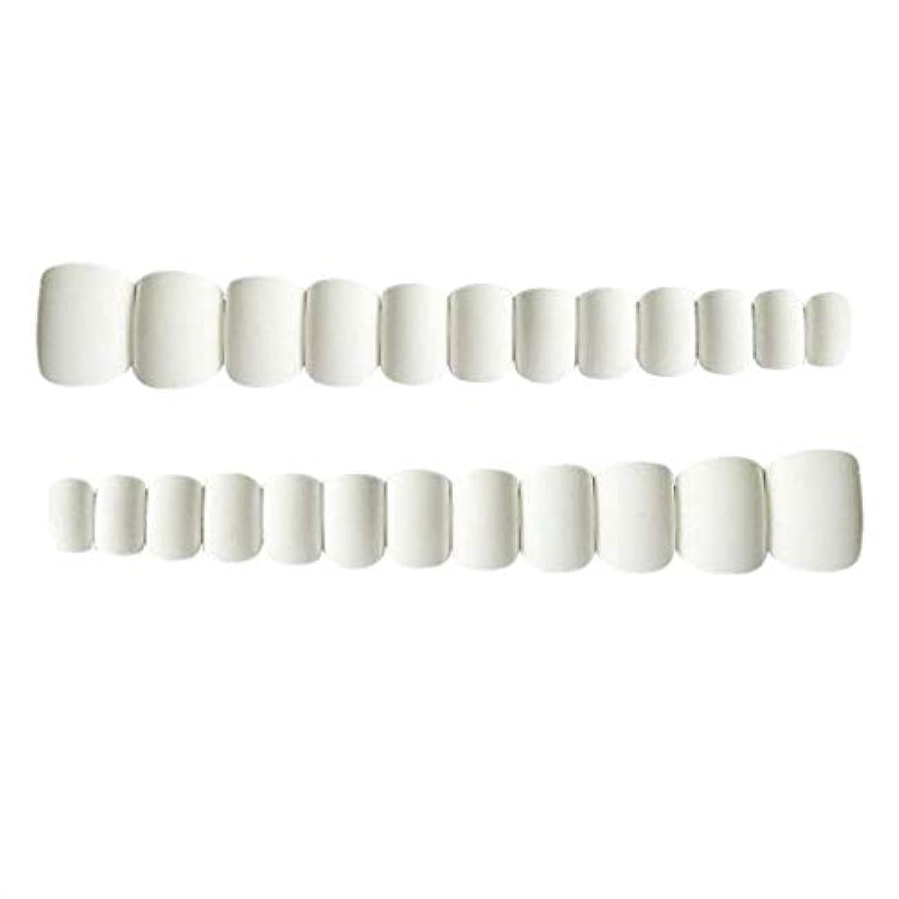 入場クリップベンチDYNWAVE ネイルチップ ショート フルカバー 再利用でき 人工チップ ネイルデザイン 全2色 - ホワイト