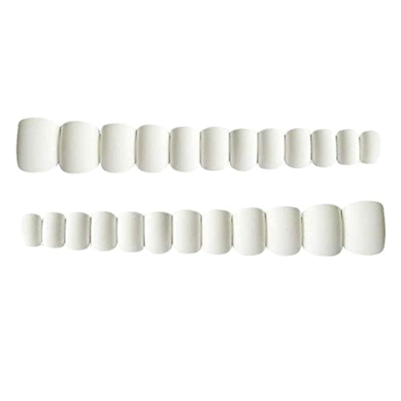資格チキン笑ネイルチップ ショート フルカバー 再利用でき 人工チップ ネイルデザイン 全2色 - ホワイト