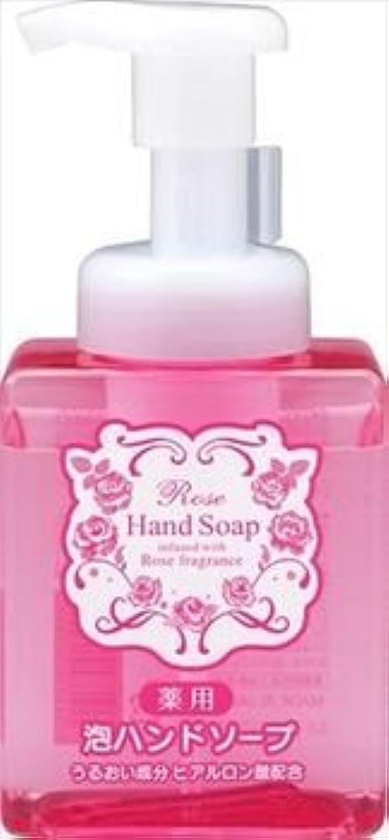 シャワー効果パット熊野油脂 ローズ 薬用 泡 ハンドソープ 本体(250ML)