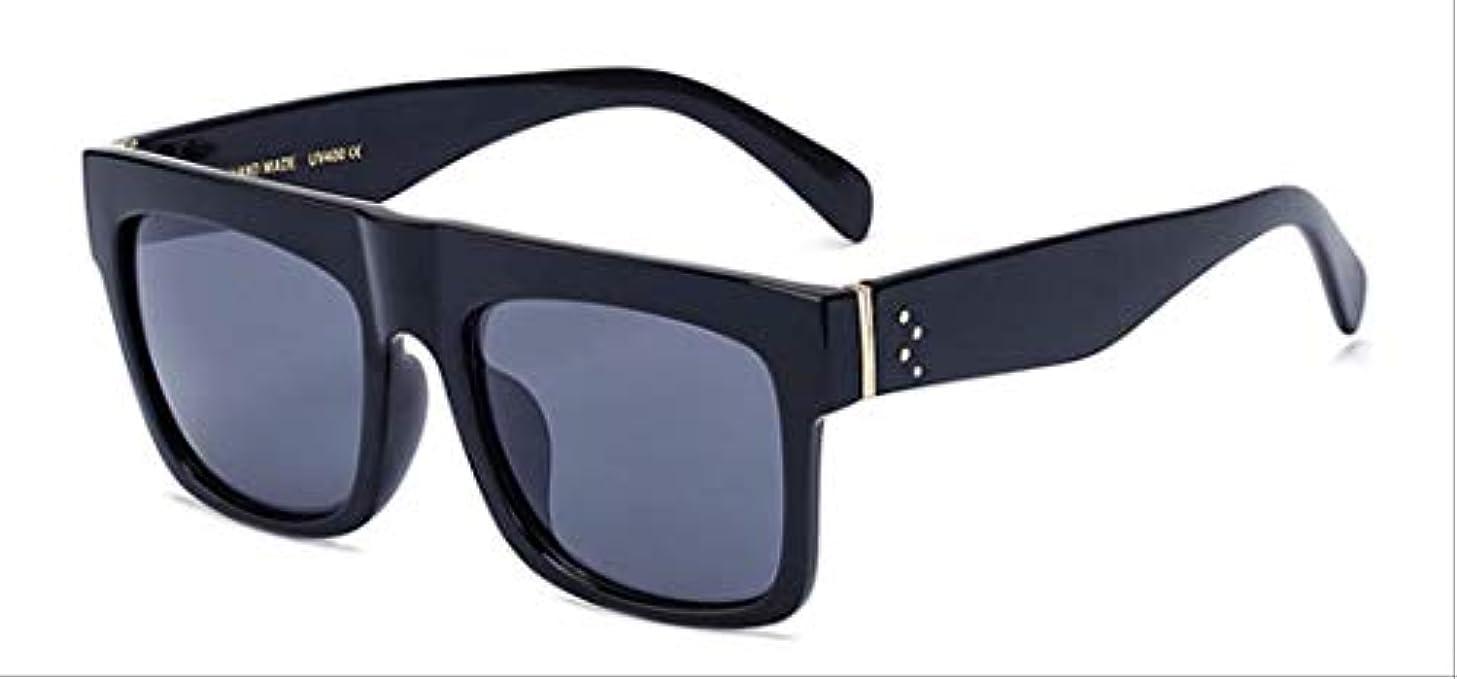 ケント知覚的飲み込むAMKLLEN  ファッションスーパースクエアメガネヴィンテージ女性サングラスブランドデザイナーフラットトップクリアレンズショッピングパーティー旅行屋外眼鏡  光沢のある黒黒