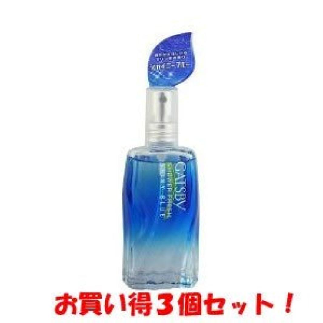 プーノキャンドル縞模様のギャツビー【GATSBY】シャワーフレッシュ シャイニーブルー 60ml(お買い得3個セット)