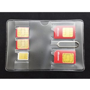 SIMカードアダプタ4点セット 【SIMカードケース付き】 【交換バッテリーケース付き】