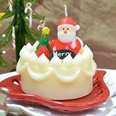 クリスマス スイーツ キャンドル クリスマスケーキ サンタクロース カメヤマ ローソク