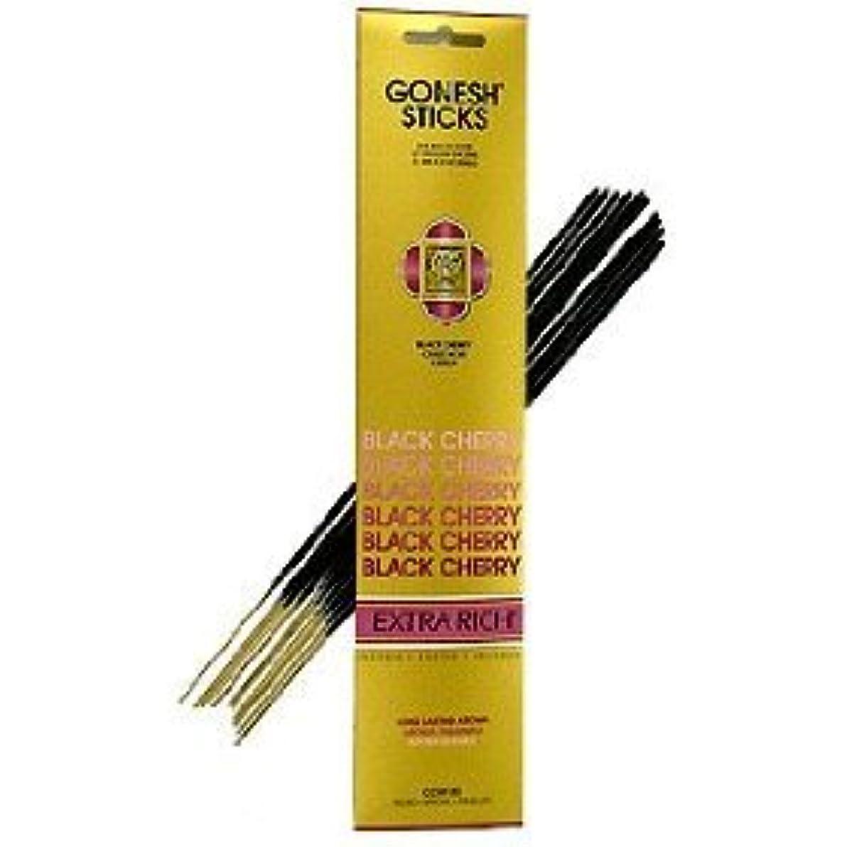 連帯はず求人Gonesh ~ Incense Sticks ~ Pack of 4 ~ブラックチェリー