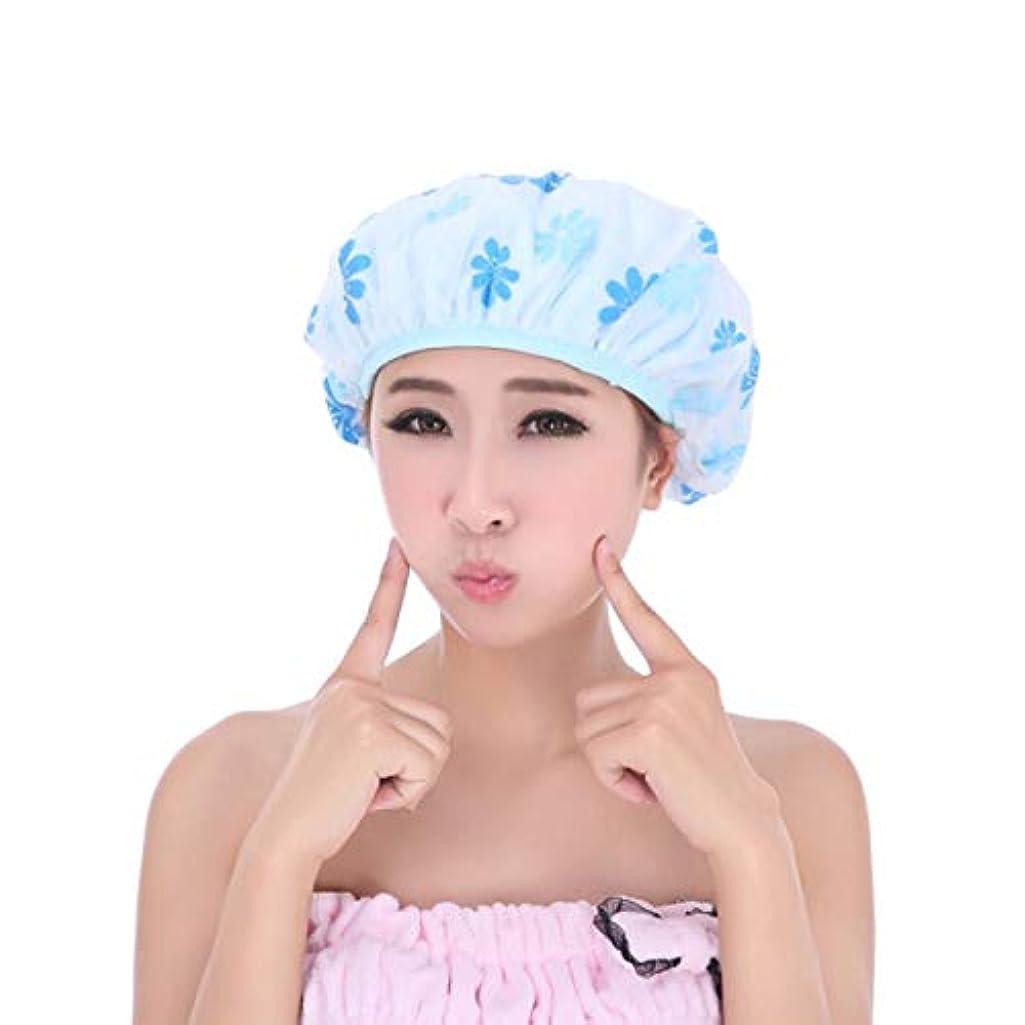 若さ助言する鬼ごっこKYK キャップシャワー、印刷二層の女性オイルマスクを増やし、シャワー (Color : Blue)