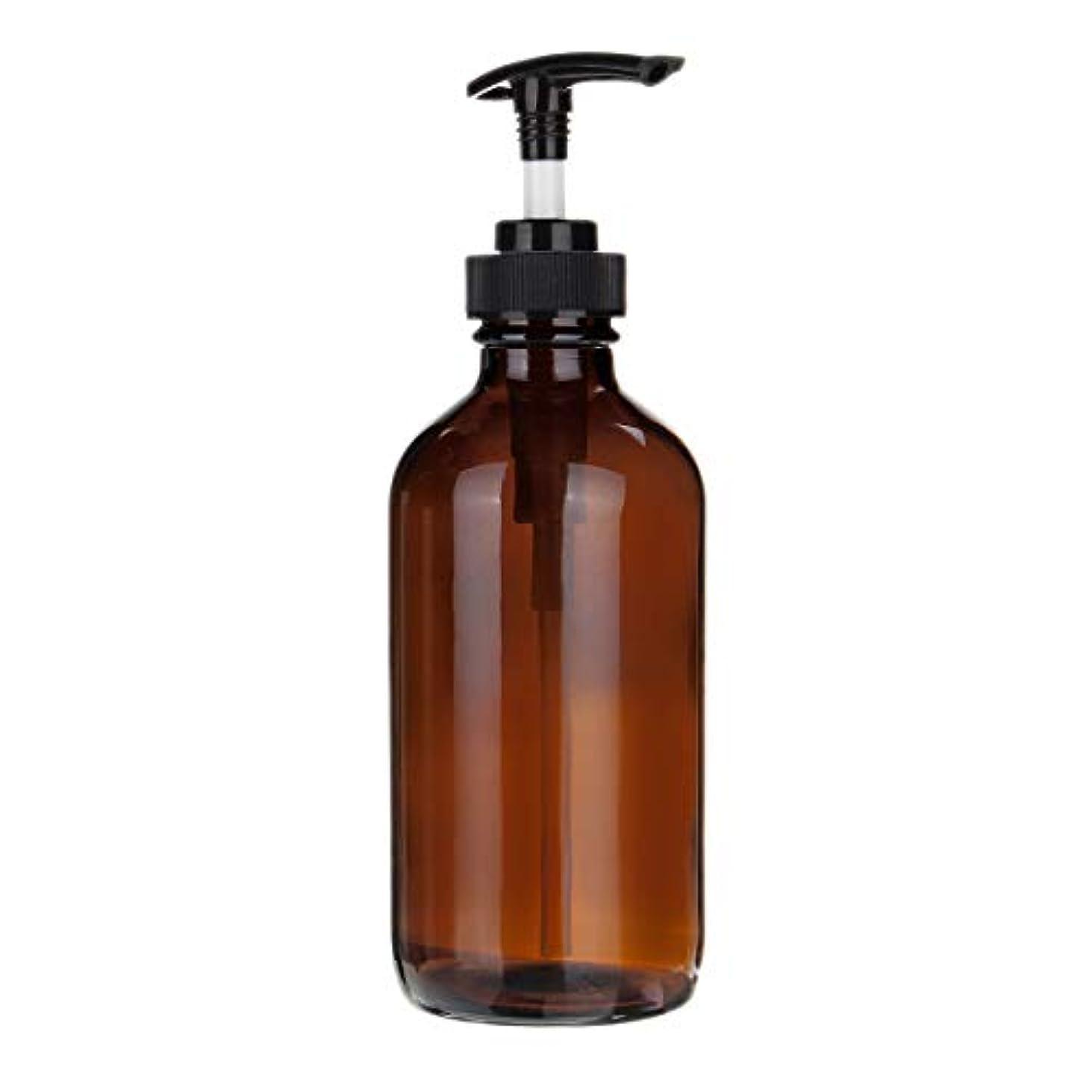 適格面白い保護するTOOGOO 250mlアンバーガラス トリガースプレーポンプボトル エッセンシャルオイルアロマテラピー、1個