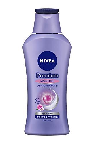 ニベア プレミアム ボディミルク モイスチャー ローズの香り 200g 【 やわらかく つややかな肌に 】 <ボディ用乳液 > 超乾燥肌