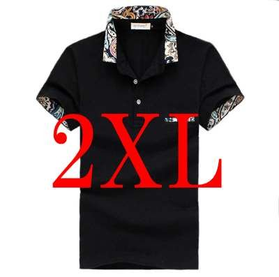 (メイク トゥ ビー) Make 2 Be メンズ カジュアル 花柄 ポロシャツ ゴルフ KB16 (23ブラック_2XL)