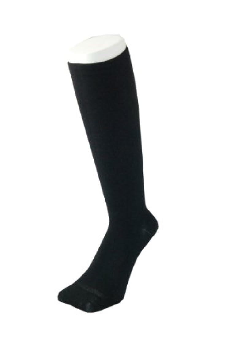 ブレーキアルコーブかんがいPAX-ASIAN 紳士 メンズ 着圧靴下 ムクミ解消 締め付け サポート ハイソックス (抗菌加工) 1足組 #800 (黒)