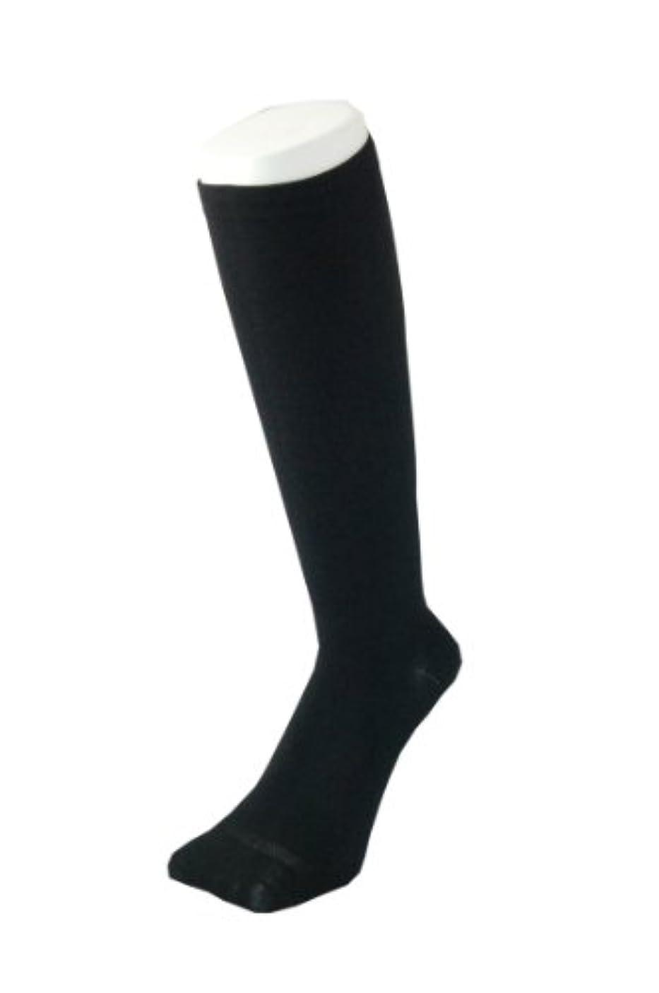 行進適応する検出するPAX-ASIAN 紳士 メンズ 着圧靴下 ムクミ解消 締め付け サポート ハイソックス (抗菌加工) 1足組 #800 (黒)