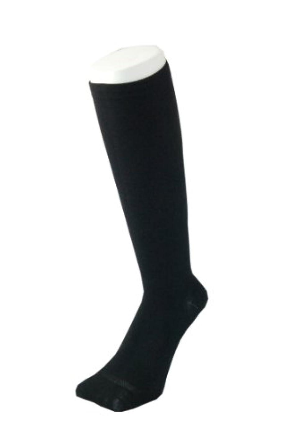 計画百科事典ラジエーターPAX-ASIAN 紳士 メンズ 着圧靴下 ムクミ解消 締め付け サポート ハイソックス (抗菌加工) 1足組 #800 (黒)