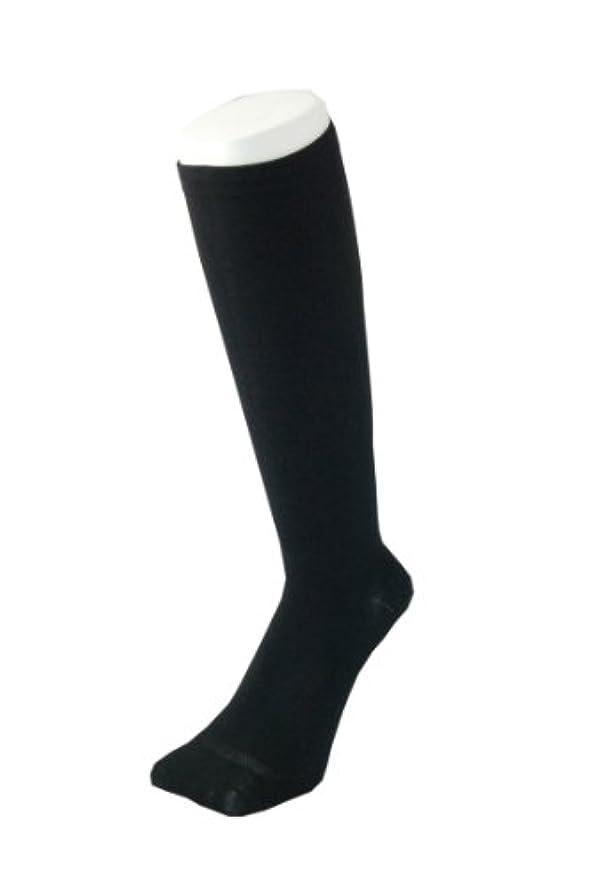 ステレオふつうチャーミングPAX-ASIAN 紳士 メンズ 着圧靴下 ムクミ解消 締め付け サポート ハイソックス (抗菌加工) 1足組 #800 (黒)