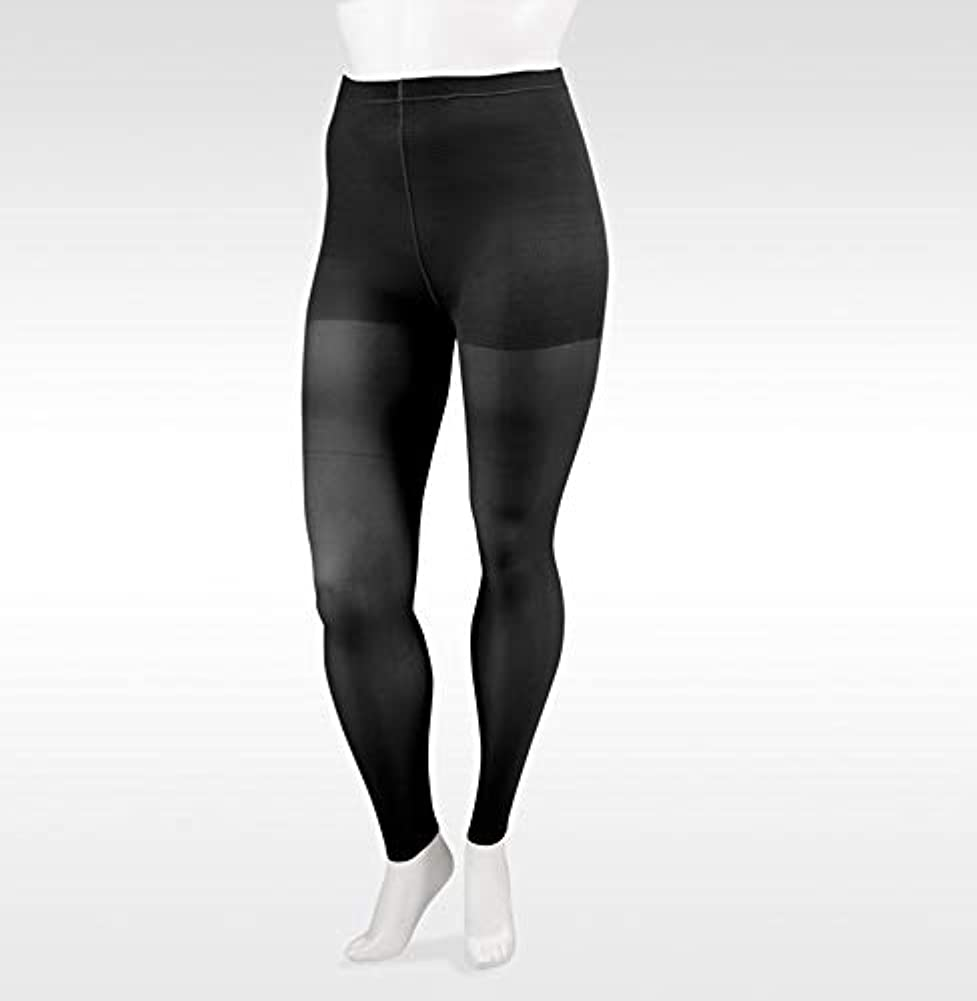 署名カナダ蘇生するJuzo Soft footless 15-20mmHg pantyhose Leggings., V, Black by Juzo