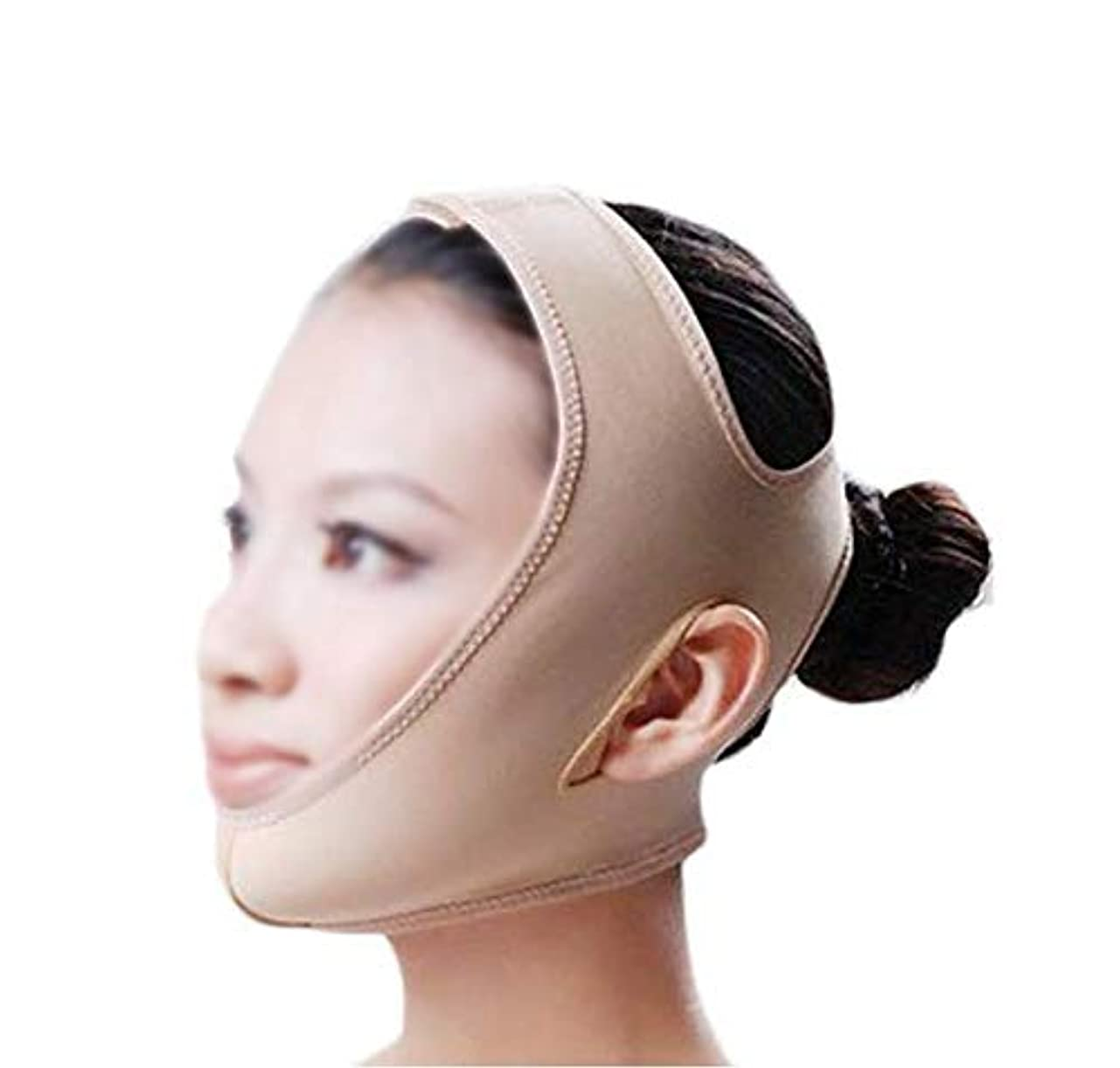 アーカイブ意見集団GLJJQMY 引き締めマスクマスクフェイシャルマスク美容薬マスク美容V顔包帯ライン彫刻引き締めしっかりした二重あごマスク 顔用整形マスク (Size : M)