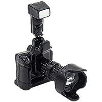 【Odoria ミニチュア雜貨】1/12 金属製 ブラック デジタル カメラ レンズ 付き 黒 ドールハウス インテリア