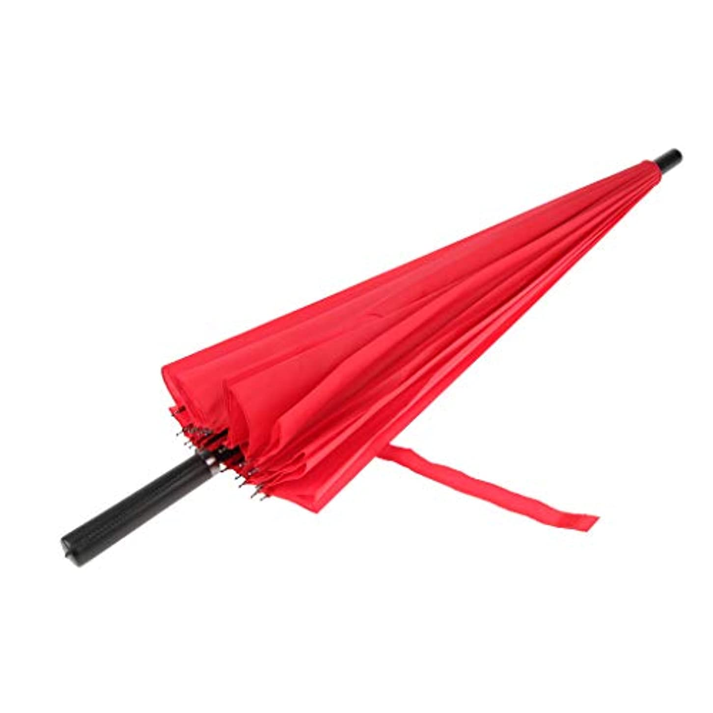 添付意欲頭痛雨 日傘 晴雨兼用 24本骨 UVカット スチール製 手開き 超大型 全6色 - 赤