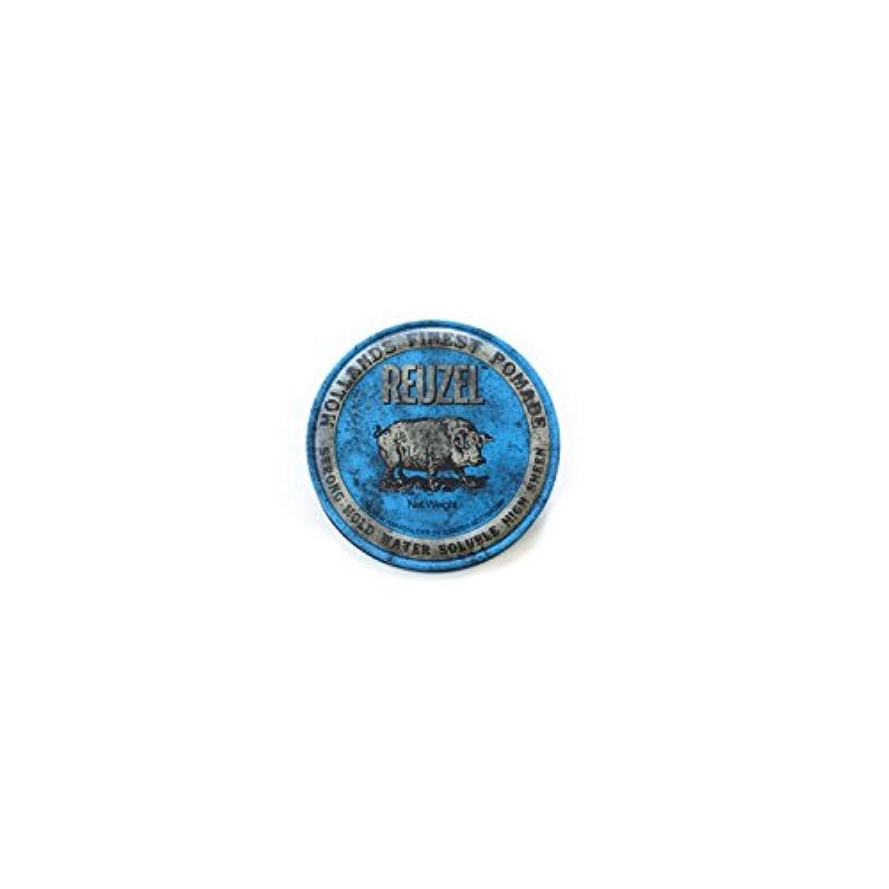 ましい好ましい最大のREUZEL ルーゾーストロングホールドポマード  1.3oz.-35g 【青】35g <水溶性: ストロングホールド>