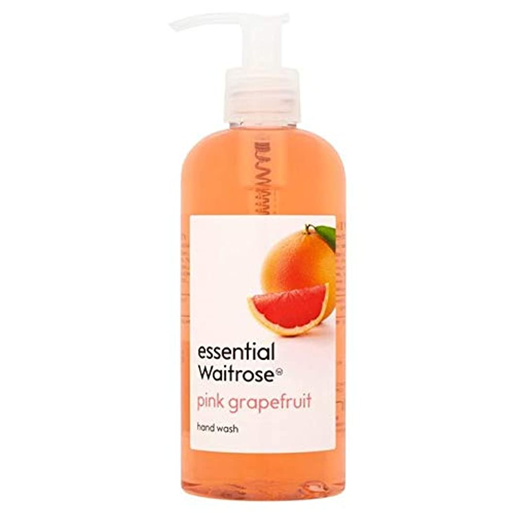 吸収剤ウールなかなか[Waitrose ] 基本的なウェイトローズのハンドウォッシュピンクグレープフルーツ300ミリリットル - Essential Waitrose Hand Wash Pink Grapefruit 300ml [並行輸入品]