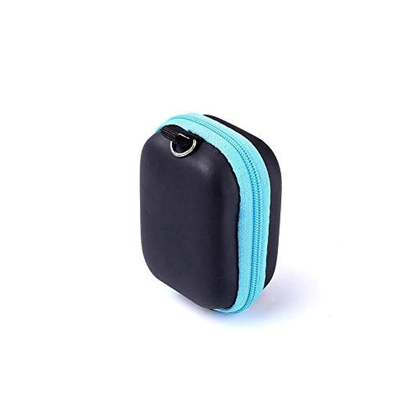 金属機構モノグラフPursue エッセンシャルオイル収納ケース アロマオイル収納ボックス アロマポーチ収納ケース 耐震 携帯便利 香水収納ポーチ 化粧ポーチ 6本用