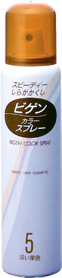 成り立つ広範囲にみすぼらしいホーユー ビゲン カラースプレー 5 (深い栗色) 82g(125mL)