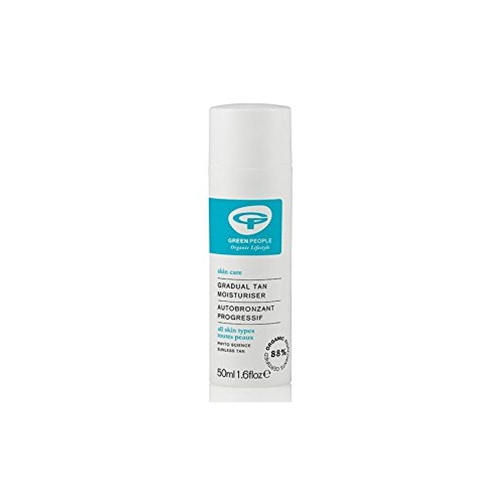 超高層ビルスコア日食緑の人緩やかな日焼け顔の保湿剤(50ミリリットル) x2 - Green People Gradual Tan Face Moisturiser (50ml) (Pack of 2) [並行輸入品]